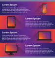 flat design it device infographic multicolor vector image vector image