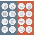 flat icons business workflow items and elements vector image