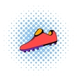 Football boot icon comics style