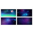 futuristic space backgrounds set cosmic galaxy vector image