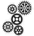 Gear zubcanik par komada resize vector image