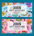 gift card with masks and party accessories vector image vector image
