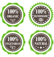 Green and brown badges vector image vector image