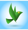Green bird ecology element vector image vector image