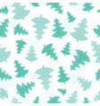 green scattered christmas trees forest vector image vector image