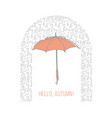 hand drawn colorful umbrella concept vector image