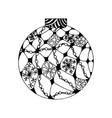 handdrawn christmas ball vector image