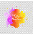 happy birthday card with blobs transparent vector image vector image