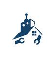 home automation house robot logo design creative vector image vector image