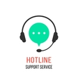 hotline support service with headphones vector image vector image
