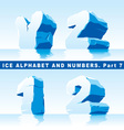 ice alphabet part 7 and numbers part 1 vector image vector image