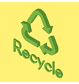 Icon of eco recycle vector image vector image