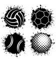 ink blots grunge balls vector image vector image