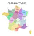 interactive colorful map of metropolitans french vector image vector image