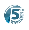 logo 5 years warranty vector image vector image