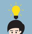 man get idea vector image