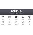 media simple concept icons set contains such vector image