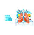 medical examination banner lungs alternative vector image
