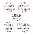 Modern Alphabet Stylish lettering Dinner vector image vector image