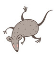 mouse or rat isolated icon 2020 chines new year vector image vector image