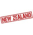 New Zealand red square stamp vector image vector image