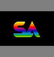 rainbow color colored colorful alphabet letter sa vector image vector image