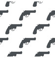 revolver gun black silhouette drawing seamless vector image