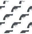 revolver gun black silhouette drawing seamless vector image