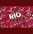 rio 2020 brazilian carnival design template vector image