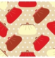 Seamless texture with fashion cosmetic bags vector image vector image