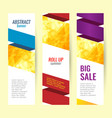 set abstract geometric roll up vertical summer vector image vector image