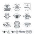 set honey labels badges and design elements vector image vector image