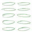 set light green oval highlighter vector image