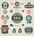 Set of stickers labels tags and icons vector image vector image