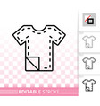 sewing pattern simple black line icon vector image