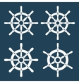 Ship Helm Icons Set vector image vector image