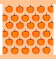 simple cartoon pattern with pumpkins autumnal vector image vector image