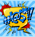 swear word sign comic book pop art vector image vector image