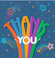 thank you in a flat style vector image vector image