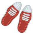 trendy female shoes sneakers with shoelace vector image