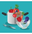 vegetables organic and healthy food design vector image vector image