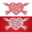 vintage heart with cross arrows vector image