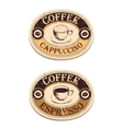 Vintage label coffee vector image vector image