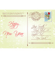 Vintage style back of new years greeting vector image vector image