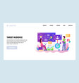web site design template target customer vector image