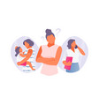 woman chooses between family and career vector image vector image