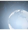 world globe on blue background global network vector image