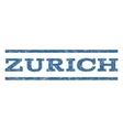 Zurich Watermark Stamp vector image vector image