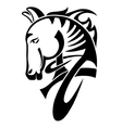 digital drawing of black tribal head horse vector image