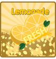 colorful vintage lemonade fresh label poster vector image